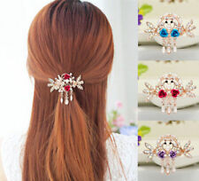 New Women Jewelry Hairpin Crystal Rhinestone Tops NEW Clip Hair Barrette Flower