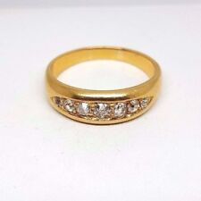 7 Stone Diamond Half Eternity Ring -  Yellow Gold (4626)