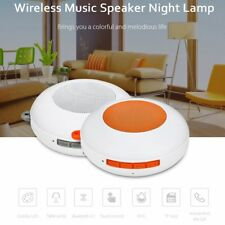 Wireless Bluetooth V4.2 Speaker LED Colorful Night Lamp +Touch Control Mic 2.4W