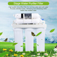 5/6 Stage Home Reverse Osmosis Drinking Water Filter System Fountain Purifier