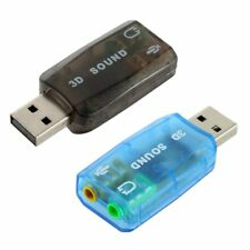 USB To 3.5mm Mic Headphone Jack Stereo Headset Sound Audio Adapter Card New UN