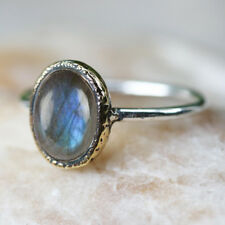 LABRADORITE RING SOLID 925 STERLING SILVER HANDMADE GEMSTONE RING SIZE 3 tO 13