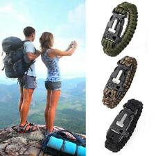 New Camping Hiking Climbing Paracord Bracelet Outdoor Survival
