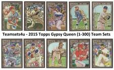 2015 Topps Gypsy Queen (Base 1-300) Baseball Set ** Pick Your Team **