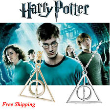 Harry Potter -Deathly hallows Fashion Metal Necklace Silver Gold Pendant Cosplay