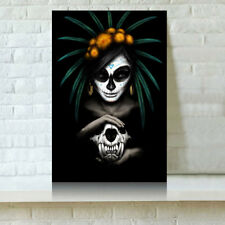 HD Print Oil Painting Home Decor Art on Canvas Catrina Multiple Size Options