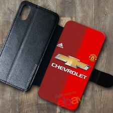 NEW!Manchester87!United769!Wallet Case iPhone X 7/8 Plus 6S Samsung S9+ S8 Cases