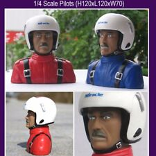 1/4 Scale Pilot Statues Pilot Portrait Toy L120*W70*L120 for RC Airplane Model