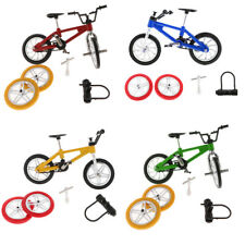 MagiDeal Alloy Finger Bicycle Diecast Model Mini BMX Fixie Bike Toy Game Gift