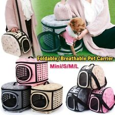 Pet Dog Cat Carrier Bag Portable Tote Sided Travel Foldable Cage Kennel Comfy