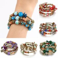 Vintage Jewelry Colorful Ball Bracelet Bangle Ethnic Charm Women Tassel Gift