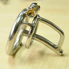 Male Chastity Cage Stainless Steel Tube Lock Belt with Barbed Ring Sexy Monalisa