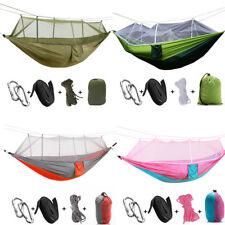 1-2 Persons Outdoor Mosquito Net Parachute Hammock Camping Hanging Sleeping Bed