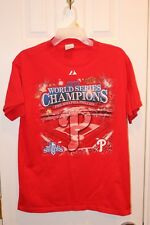 red Philadelphia Phillies two-sided World Series Champions roster t-shirt