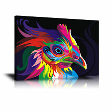 Wahyu Romdhoni Rooster HD Print Oil Painting Home Decor Wall Art on Canvas