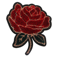 1Pcs Embroidery Rose Flower Sew Iron On Patch Hat Dress Applique Badge Craft