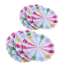 MagiDeal 8pcs Flower Petals Disposable Paper Plate Birthday Catering Tableware