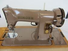 Vintage SINGER 185K Electric Sewing Machine c1958 with Handbook & Accessories