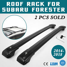 Roof Rack For Subaru Forester Cross Bars 2014-2018 Pair Carrier Matte black (Fits: Subaru Forester)
