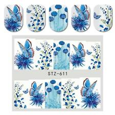 3pcs Womens Nail Decals Water Transfer Nail Art Stickers Summer Style