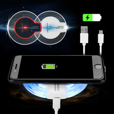 Fast Qi Wireless Fast Charger Charging Stand Dock Pad For Samsung S9 IPhone X 8