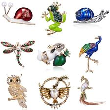 Frog Dragonfly Snails Brooches Jewelry Animal Brooch Pins Kids Birthday Jewelry