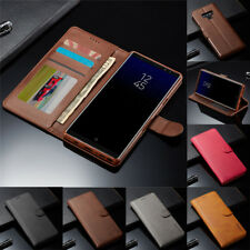 For Samsung Galaxy Note 10 9 8 S10 S9 S8Plus Leather Flip Case Cover Card Wallet