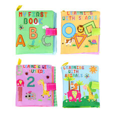 Baby Developing Cloth Book Toy Number Animal Shape Option Fun Family Toy