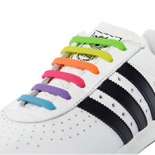 Rainbow Silicone Trainers Shoelaces No Tie Elastic Shoe Laces For Adults & Kids