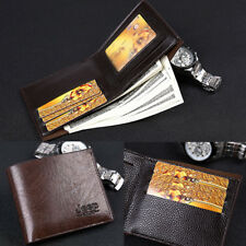 Mens Leather Genuine Bifold Credit ID Card Holder Slim Wallet Billfold Purse