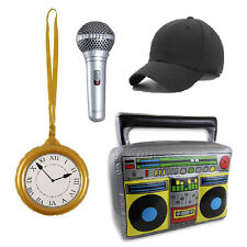 Beastie Boys Rapper MC 80s Kit Clock Cap Boom Box Microphone Battle Mike Rock AD