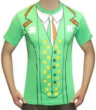 Irish Printed Tshirt Leprechaun Shamrock St Patricks Paddys Day Green Football
