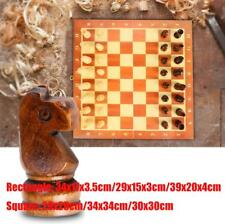 Large Chess Wooden Set Folding Chessboard Magnetic Pieces Wood Board JA