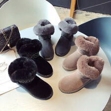 Womens Warm Plush Snow Boots Fur Lined Thicken Shoes Winter Suede Ankle Boot New