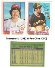 1982 O-Pee-Chee (OPC) Baseball Team Sets ** Pick Your Team Set **