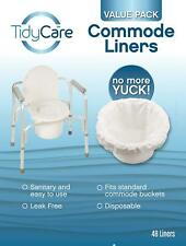 Commode Liners Value Pack Disposable Bedside 48 Commode Liners Adult Chair Fit
