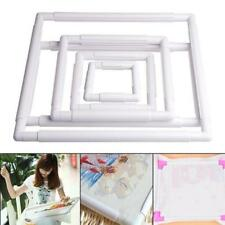 Embroidery Frame Cross Stitch Hoop Stand Lap Tool Square Rectangle Clip OO