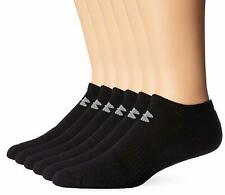 Under Armour Mens Charged Cotton 2.0 No Show Socks (6 Pack) - Choose SZ/Color