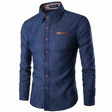 Floral luxury tops t-shirt long sleeve dress shirt casual stylish men's slim fit