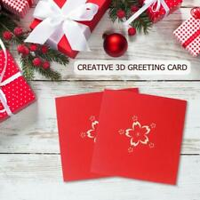 3D Pop Up Cards Handmade Romantic Greeting Card Festival Blessing Postcard
