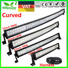 Curved LED Bar 120W 180W Light Bar 240W 288W Work Lamp 300W For Jeep Offroad ATV