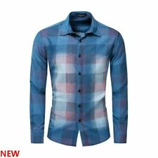 Fashion New 100% Cotton Casual Stylish Long Sleeve Slim Fit Luxury Casual Mens