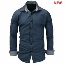 New Stylish Luxury Fashion 100% Cotton Casual Long Sleeve Dress Shirts Slim Fit