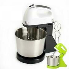 7Speed Electric Food Stand Hand Mixer Bowl Cake Dough Hook Whisk Beater 2L Z7U6N