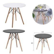 Kitchen Wooden Dining Table Round Coffee Table Leisure Conference Pedestal Desk