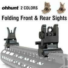 Ohhunt Folding Front and Rear Sights Set Polymer Flip Sight Fit Picatinny Weaver