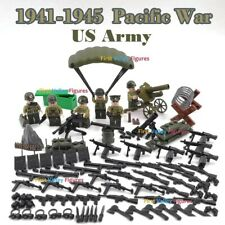 WW2 Pacific War USA Military Soldiers Army + Weapon for Lego Minifigures