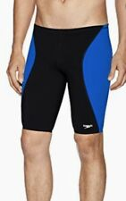 SPEEDO Sprint Splice Swim Jammer Male Black Sapphire Blue NEW Boys Mens 26 30 32