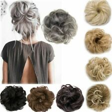 Curly Hair Messy Bunny Piece Scrunchie Updo Cover Real Human Hair Extensions