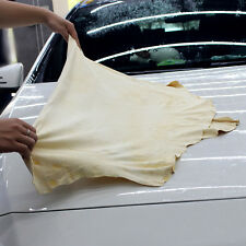 Natural Chamois Leather Car Cleaning Drying Cloth Thicken Absorbent Wash Towel